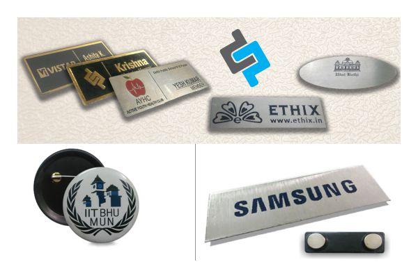 Magnetic Name Badges Printing in Delhi   Chest Badges